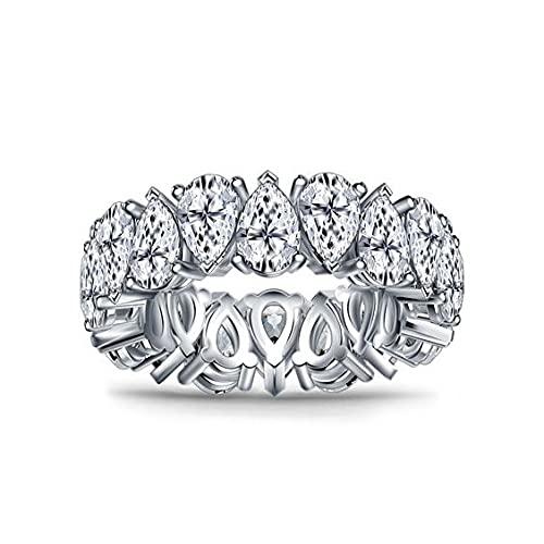 Damen Ring vergoldet Retro Damen Ring aus Zirkonia mit Swarovski steine Ring Gold Frauen Ring Silber Gold (Silber, 52 ( 16,9))