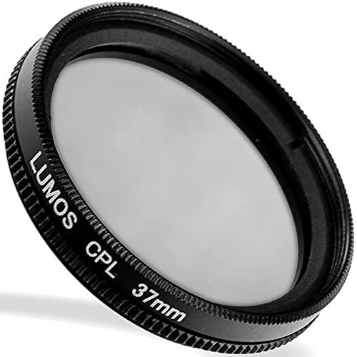 LUMOS zirkular Polfilter 37mm - lichtdurchlässiges Glas - Metallfassung im schlanken Slim Design - Premium CPL Filter Polarisationsfilter 37 mm