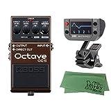 BOSS (ボス) - ギターエフェクター/ベースエフェクター オクターバー OC-5 Octave + KORG AW-OTB-POLY + マークスオリジナルクロス セット