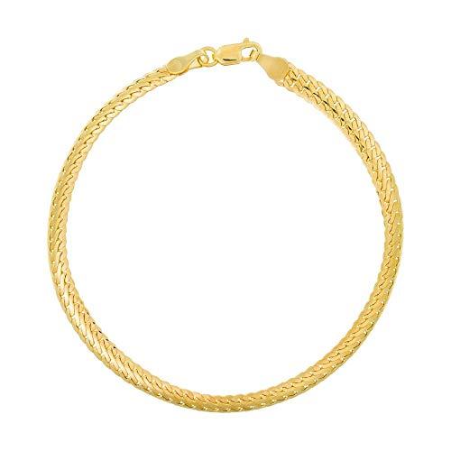 Pulsera de oro amarillo 375/1000.