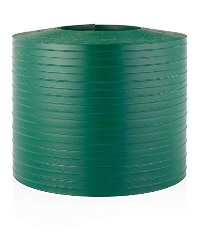 Quest Hart-PVC Sichtschutzstreifen für Doppelstabmatten Zaunblende Kunststoff | 26m x 19cm | Sichtschutz Windschutz Garten Gartenzaun (Grün)