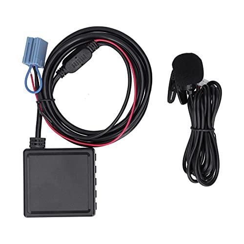 Aramox Adaptador de audio Bluetooth, Adaptador de música AUX Bluetooth inalámbrico para automóvil Conector de interfaz USB de música MP3 apto para Mercedes Benz Smart/Roadster/ForTwo/ForFour