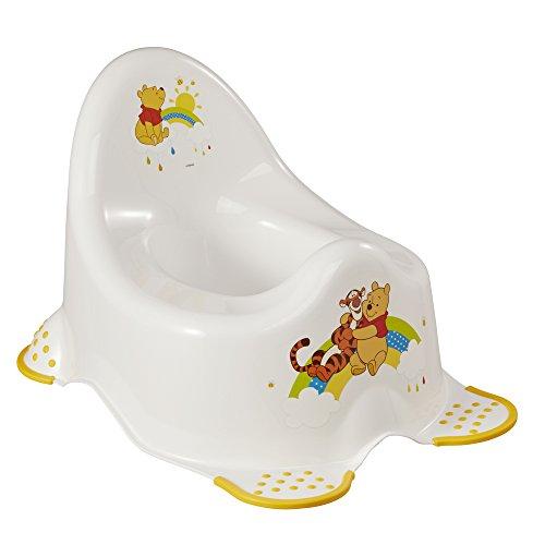 keeeper Pot pour Bébé Winnie l'Ourson, De 18 Mois à 3 ans Environ, Fonction Antidérapante, Adam, Blanc