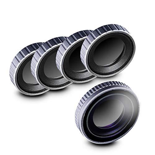 Walimex pro Filter Set für DJI OSMO Action CPL/ND MC - Kit aus ND4 ND8 ND16 ND32 und Polfilter 16x mehrschichtvergütet Glas kratzresistent ölbeständig wasserresistent Alurahmen DJI OSMO Action Cam