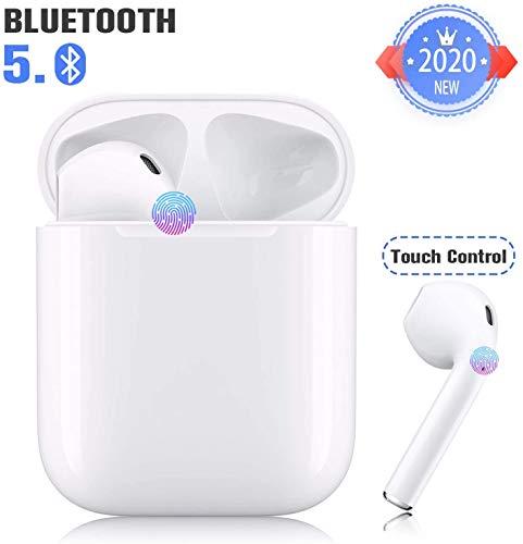 Auriculares Bluetooth Auriculares inalámbricos con reducción de Ruido Auriculares estéreo 3D, Auriculares Deportivos con micrófono Incorporado, Compatible con ISO/Android