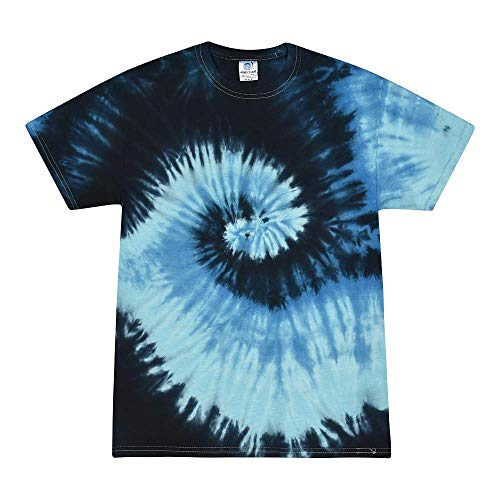 Colortone Tie Dye T-Shirts Kids 10-12 (MD) Blue Ocean