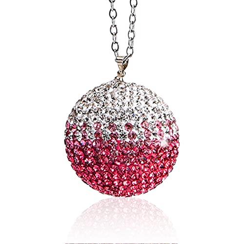 tao pipe Colgante de cristal para el coche, color degradado con bola de estrás, para colgar en la mochila, bolso de mano, decoración, color rosa