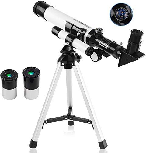 Dyna-Living F40400 - Telescopio astronomia per bambini, per principianti, 400 x 40 mm, HD, telescopio per luna, pianeta, osservazione stellare