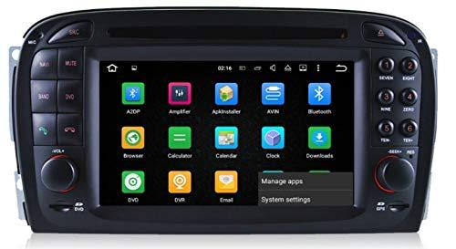 Sunshine Fly 6.2 Zoll Android 9.0 Auto Radio DVD Player für SL R230 SL500 mit GPS Navigation BT FM AM RDS Stereo Bose Sound Systerm Lenkradfernbedienung Canbus WiFi