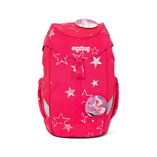 Ergobag Mini CinBärella, ergonomischer Kinderrucksack, Kindergarten Vorschule, DIN A4, 10 Liter, 500 g, Pinke Sterne
