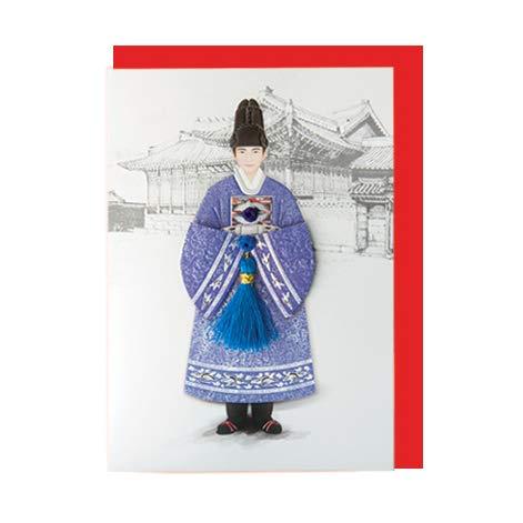 韓国 メッセージカード (韓服)パジチョゴリ王1■messagecard-ft221-1-s【ギフト】【お土産】