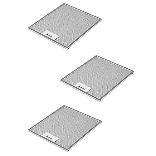 DREHFLEX AK109-3-3 filtros de grasa metálicos para campana extractora(305x267 mm,AEG Electrolux 405525042-9 Elica GRI0009219A KIT0010805 93952919 Whirlpool Bauknecht 480122102168 C00314158 ARI314158)