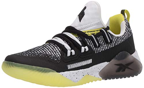 Reebok Boy's JJ III Running Shoe, Black/White/Hero Yellow, 6 M US Big Kid
