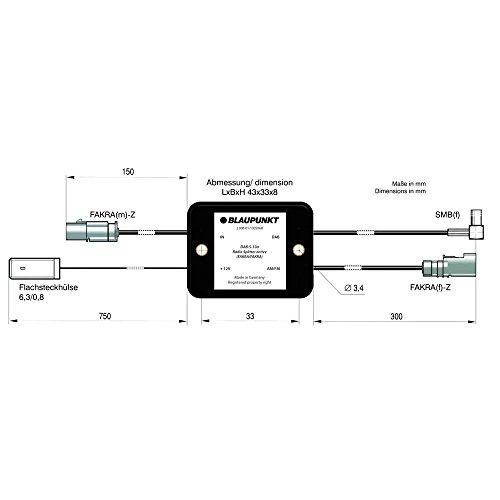 Blaupunkt Auto-Antennen-Adapter Fakra