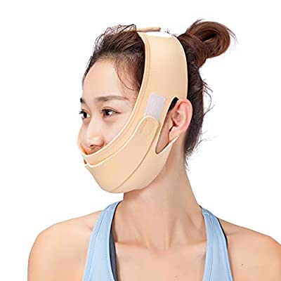 2 Types Facial Slimming Mask, Breathable Lifting Face Belt Reduce Double Chin V Face Line Bandages Tightens Facial Anti-Double Chin Care Face Belts Ultra-thin Strap Band Anti Wrinkle Mask (1#) by Salmue