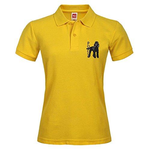 Elegante camisa de Polo camisa deporte al aire libre corto de cuello con caniche impreso