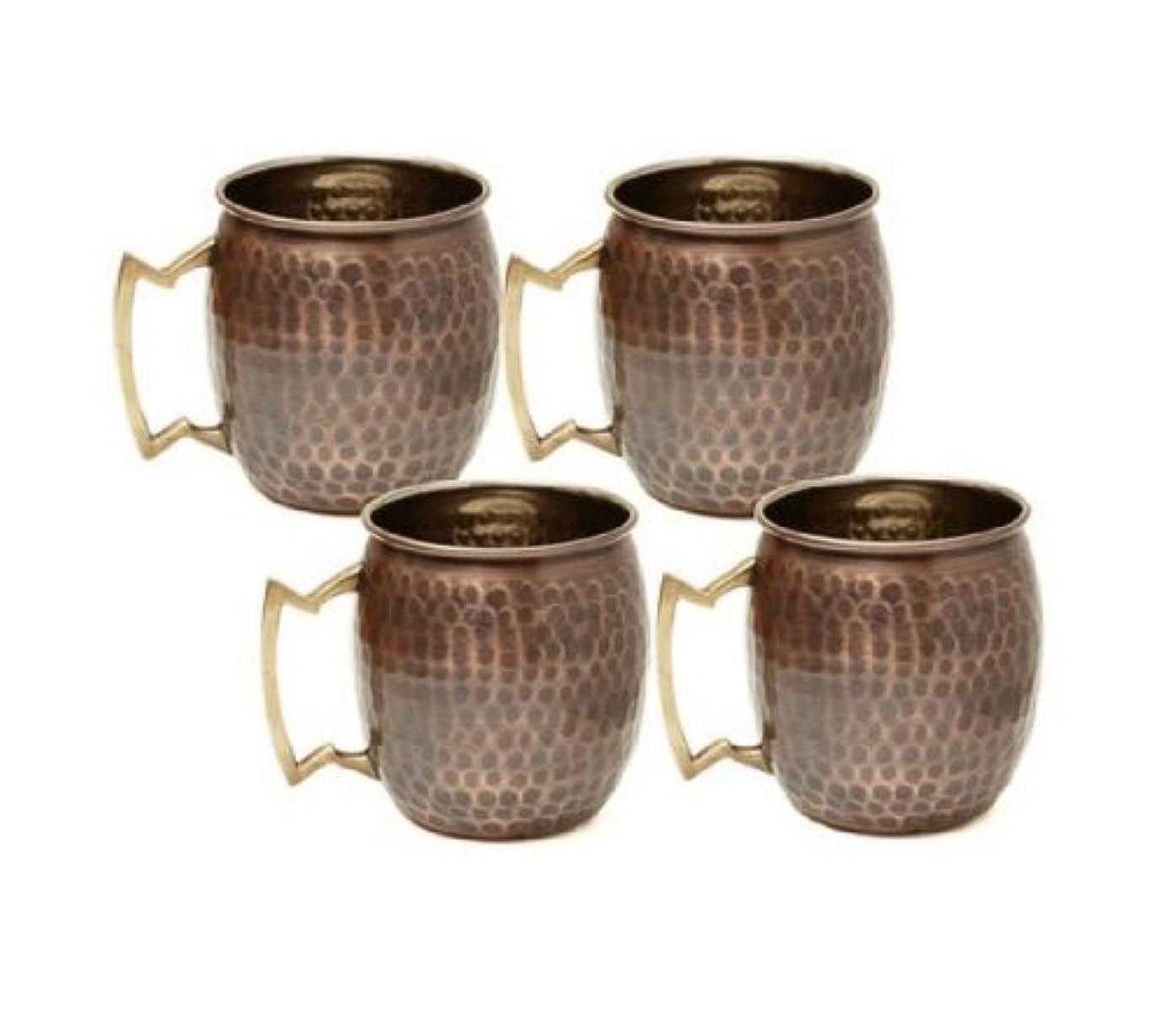 オプション多用途スキムアンティークHammeredソリッド銅Moscow Muleマグカップ( Set of 4?)各Moscow Muleマグは個々のパッケージ化