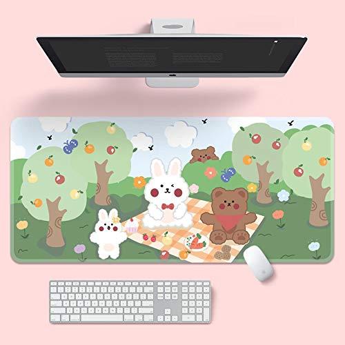 Alfombrilla de ratón linda alfombrilla de ratón super creativa INS Tide grande juego de computadora teclado de oficina largo tapete de mesa Kawaii escritorio para adolescentes niñas para dormitorio A