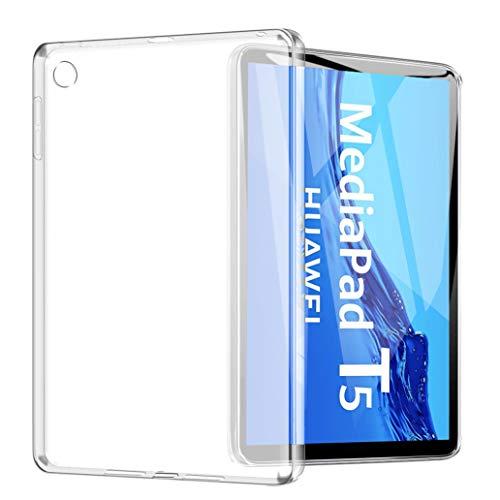 Yoowei Funda para Samsung Galaxy Tab A 10.1 2019 (SM-T510/T515), funda trasera translúcida de TPU flexible silicona ultra fina y ligera funda para Samsung Galaxy Tab A 10.1'
