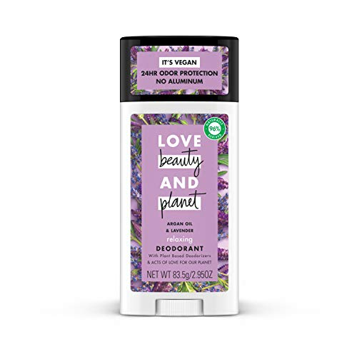 Love Beauty and Planet Aluminum-free Deodorant, Argan Oil and Lavender 2.95 oz