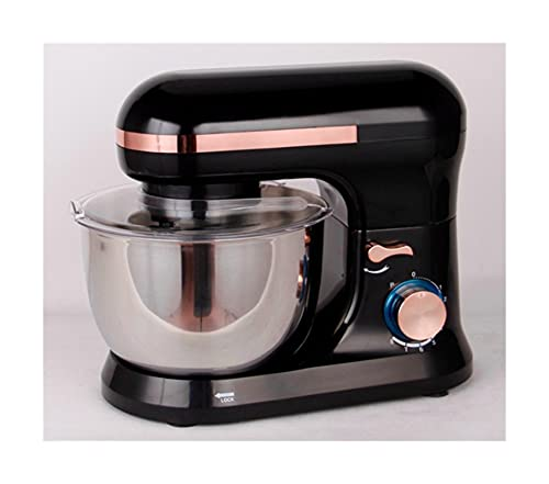 Mezclador de pie, mezclador de alimentos de 6 velocidades, un tazón de mezcla de acero inoxidable de 4.5L, mezclador de cocina para hornear incluye batidor, gancho de masa, batidor y cubierta de tazón