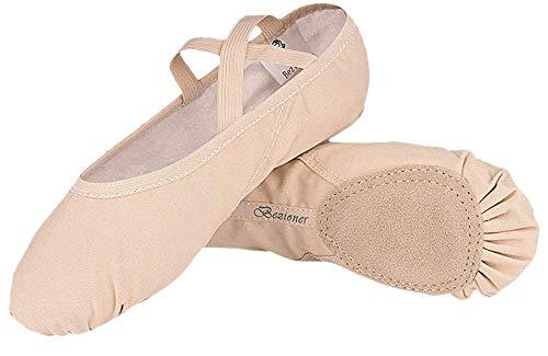 TXJ Sports Ballet Shoes for Women Girls, Women's Ballet Slipper Dance Shoes Canvas Ballet Shoes Yoga Shoes Light Pink
