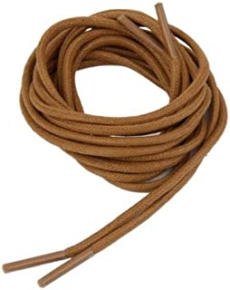 AuCatStore(TM) Pair Round Waxed Casual ShoeLace Brogue Leather Boot Shoe Laces 120cm Brown