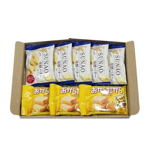 グリコ SUNAO〈発酵バター〉(5コ)& おからだから〈チーズケーキ〉(3コ)セット
