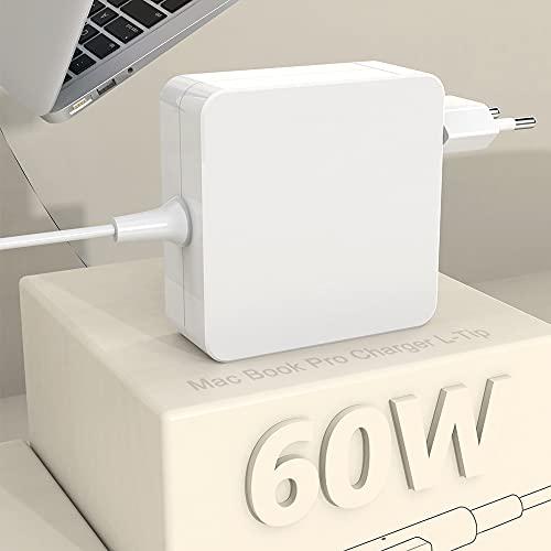 Compatible con Cargador MacBook Pro,Alimentación Mac con Punta en L de 60 W, Adaptadores MacBook Pro/Air de 11 y 13 Pulgadas, Modelos de 2008 a 2012, Alimentación Mac Book Pro Funciona con 45W/60W