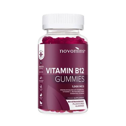 Vitamina B12 en Gominolas de Novominis Nutrition – Sin Gluten y NO-OGM – Vitamina B 12 1000 mcg – 60 Gominolas Veganas de Vitamina B12 de Alta Potencia – Gominolas de Vitaminas