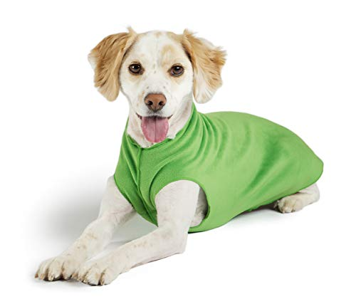 Gold Paw Stretch Fleece Dog Coat – Soft, Warm...