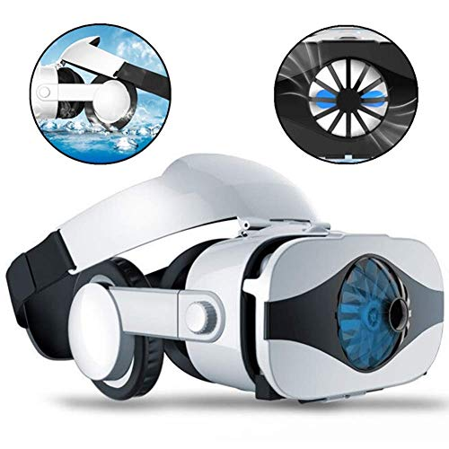 Learn More About EAHKGmh VR Headset Virtual Reality Headset VR Glasses Fan Heat Dissipation Head-Mou...