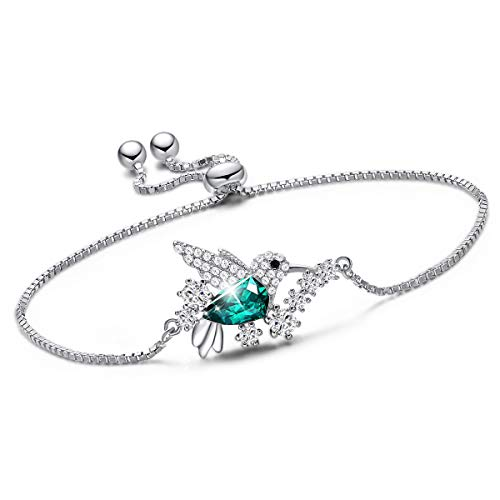 CDE Bracelets Gifts S925 Sterling Silver Hummingbird Bracelet for Women Bracelet Jewelry for Women Daughter Sister Girlfriend Wife Mom