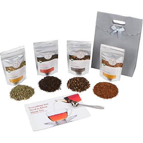 Golden Moon Tea - Tea Gift Set | 100% USDA Organic Loose Tea Sampler Set | Robust Smooth Taste, No...