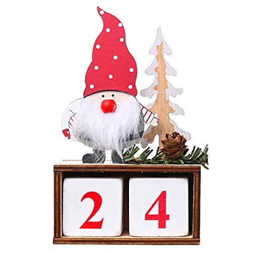Flagicon Advent Calendar Kids Christmas 2020 Cute Santa Christmas Countdown to Xmas Lovely Calendar 24 Days for Decoration Children DIY for Kids Gifts
