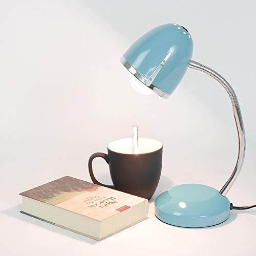 Schreibtischlampe Blau E27 bis 18W 230V Metall Tischleuchte Büroleuchte Arbeitszimmer Lampe Beleuchtung Retro Design Leselicht Bastellampe Kinderzimmer Leuchte