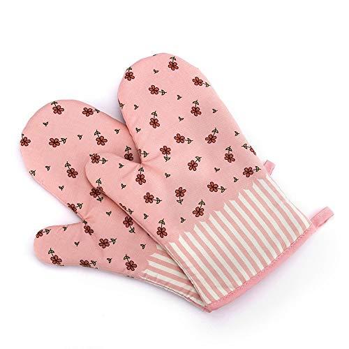 Nvfshreu Professional Ofenhandschuhe Backhandschuhe Süß Und Schön Topfhandschuhe Isolierte Grillhandschuhe 1 Einfacher Stil Paar Beige (Color : Rosa, Size : Size)