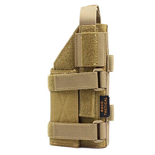 Yunshao Adjustable Tactical Pistol Holster for 1911 45 92 96 Glock, Tactical Belt Holster (TAN)
