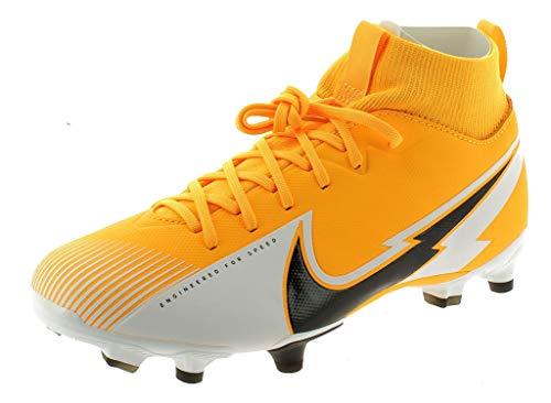 Nike Jr. Superfly 7 Academy FG/MG, Football Shoe Unisex-Child, Laser Orange/Black-White-Laser Orange, 34 EU
