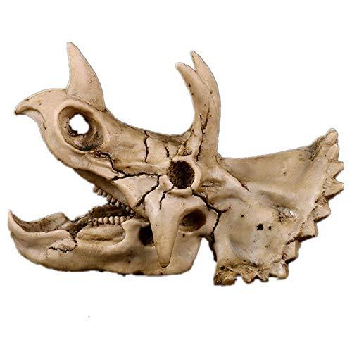Simulada Resina Cráneo del Dinosaurio Modelo Decoración, Realista Triceratops Hecho a Mano del Juguete cráneos de Animales for la Oficina en casa for niños Juguetes educativos de la Ciencia WTZ012