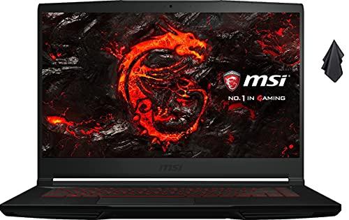 Newest MSI GF63 Premium Gaming Laptop, 15.6' FHD Thin-Bezel Display,10th Gen Intel Quad-Core i5-10300H, 16GB RAM, 1TB SSD, GeForce GTX 1650 4GB, Backlit Keyboard, Win10 + Oydisen Cloth
