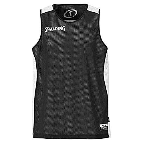 Spalding-Maglietta Essenziale, Reversibile Nero Nero - Nero/Bianco S
