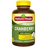 Nature Made Cranberry + Vitamin C Softgels, 120 Count Value Size (Packaging May...