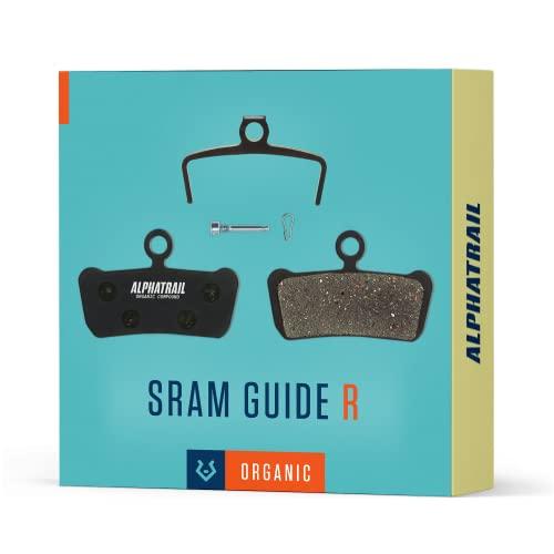 Alphatrail Pastillas de Freno - Compatible con SRAM Guide & Avid Trail I Orgánico Pastilla de Freno con Alta Potencia de frenado y kilometraje I Avid Elixir Trail 7 9 XO & Guide R RS RSC Ultimate