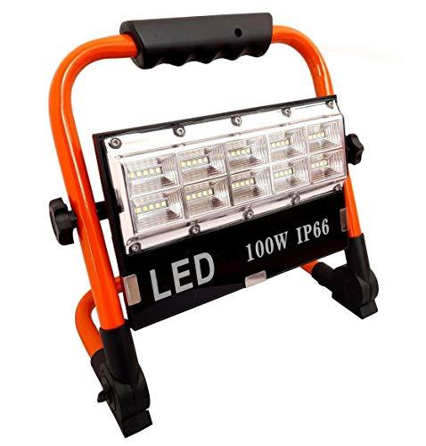 Faro faretto LED 100W batteria ricaricabile portatile torcia da lavoro 8505-SMD