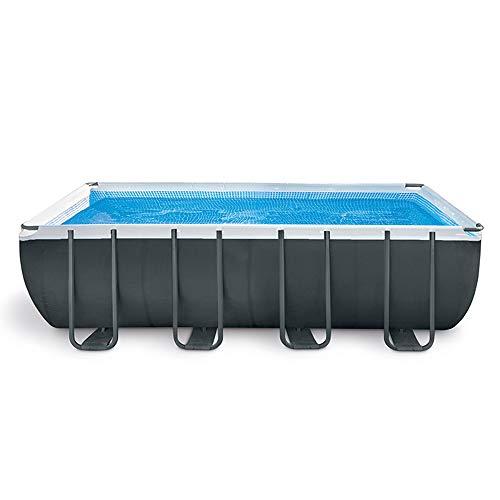 CuiCui Quadratischer Rahmen Baby Play Schwimmbad Set Rohrgestell Teich Erwachsener Großer Familienpool Mit Filterpumpe