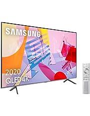 """Samsung QLED 4K 2020 50Q64T - Smart TV de 50"""" con Resolución 4K UHD, con Alexa Integrada, Inteligencia Artificial 4K Wide Viewing Angle, Sonido Inteligente, Premium One Remote"""