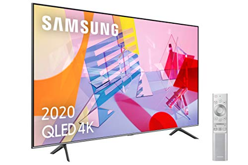 "Samsung QLED 4K 2020 50Q64T - Smart TV de 50"" con Resolución 4K UHD, con Alexa Integrada, Inteligencia Artificial 4K Wide Viewing Angle, Sonido Inteligente, Premium One Remote"