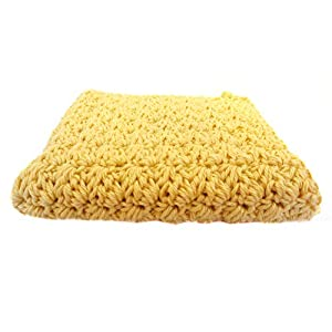 Waschlappen Spültuch Baumwolle gehäkelt ockergelb