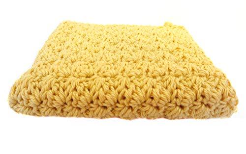 Waschlappen/Spültuch/Spültuch aus Baumwolle/Spültuch gehäkelt/ockergelb gelb